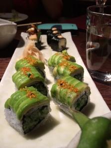 Avacado sushi in Roka.