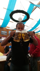 My beer crazy friend! See the size of the glasses